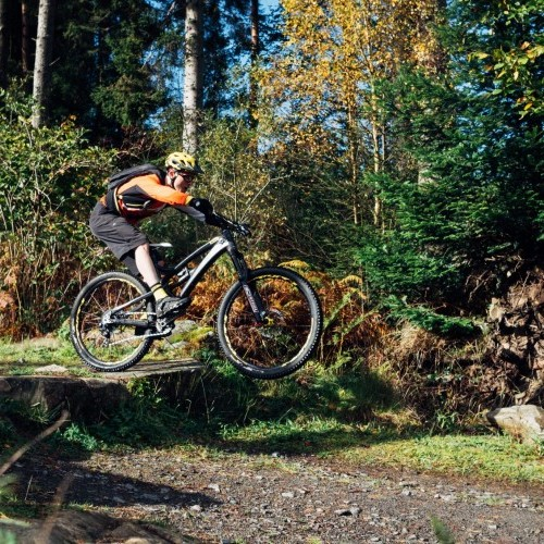 Drop and Roll Mountain Bike Technique